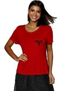 T-Shirt Manga Curta Energia Fashion Cereja - Vermelho - Feminino - Dafiti