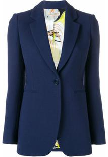 Emilio Pucci Blazer Com Abotoamento Simples - Azul