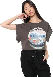 Camiseta Colcci Estampada Grafite - Kanui