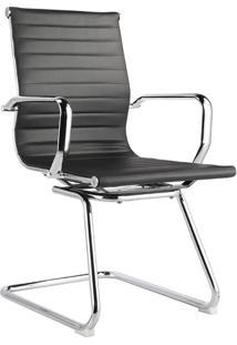 Cadeira Fixa Baixa Oficce Pu Sevilha -Rivatti - Preto