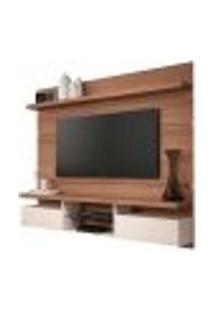 Painel Home Suspenso 1.8 Para Tv Até 55? Sala De Estar Lennon Nature/Off White - Gran Belo