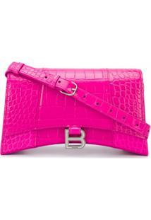 Balenciaga Bolsa Tiracolo Hourglass - Rosa