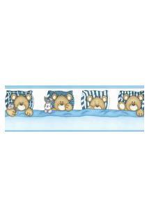 Papel De Parede Border Figuras Azul Ursos 8519 Bobinex