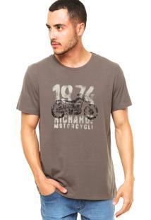 Camiseta Richards Motorcycle Cinza