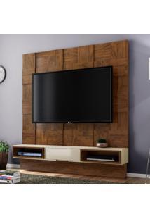 Estante Home Para Tv Até 40 Polegadas Quadriculado Tb125 Dalla Costa Nobre/Off White