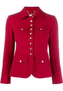 Chloé Press Stud Jacket - Vermelho