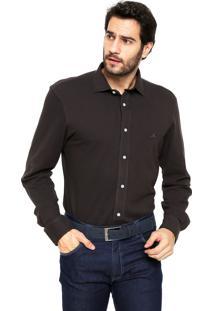 Camisa Polo Play Reta Custon Fit Marrom