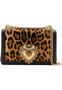 Dolce & Gabbana Bolsa Tiracolo Devotion De Couro - Estampado