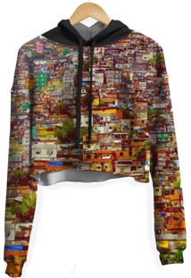 Blusa Cropped Moletom Feminina Over Fame Favela Md01