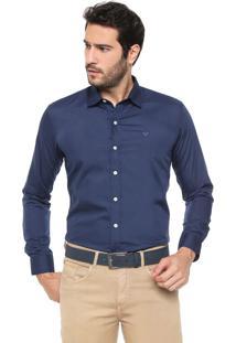 Camisa Colombo Reta Logo Azul-Marinho