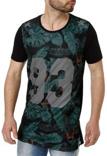 Camiseta Manga Curta Masculina Local Preto