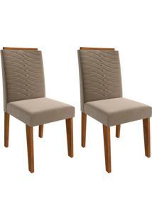 Conjunto Com 2 Cadeiras Clarice Savana E Joli