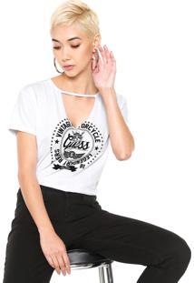 Camiseta Guess Choker Estampada Branca