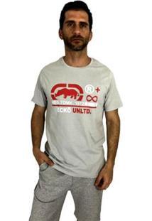 Camiseta Ecko Infinite Masculina - Masculino-Cinza