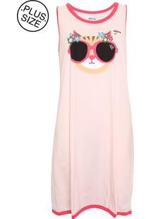 Camisola Hering Curta Meow Rosa