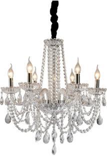 Lustre Lamp Show Bladel Transparente Branco