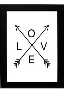 Quadro Decorativo Love Ll Preto