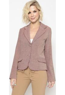 Blazer Com Recortes- Rosa- Cotton Colors Extracotton Colors Extra