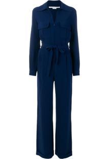 Stella Mccartney Macacão Com Amarração - Azul