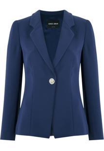 Giorgio Armani Blazer Com Recortes - Azul