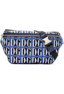 Dolce & Gabbana Pochete Com Logo Estampado - Azul