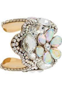 Tom Ford Bracelete Floral - Metálico