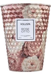 Vela Rose Otto Roses Collection Cone Textura 3D 2 Pávios 80 Horas Voluspa