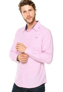 Camisa Colcci Bordado Rosa