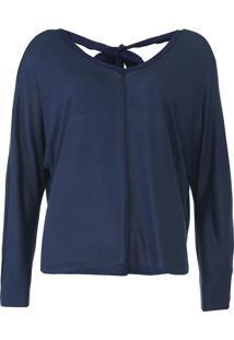 Blusa Calvin Klein Amarração Azul-Marinho
