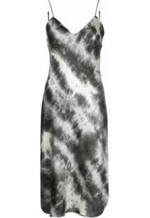 Nili Lotan Slip Dress Midi Tie Dye - Cinza
