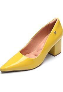 Scarpin Ramarim Verniz Amarelo