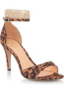 Sandália Tira Leopardo