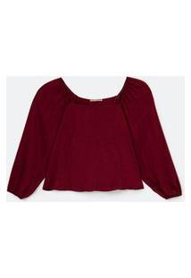 Blusa Em Viscose Com Decote Quadrado Curve & Plus Size Vermelho
