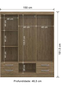 Guarda-Roupa 6 Portas Decibal Rp2640 Wood Se