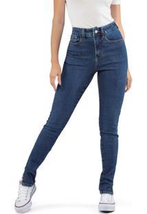 Calça Skinny Abertura Jeans