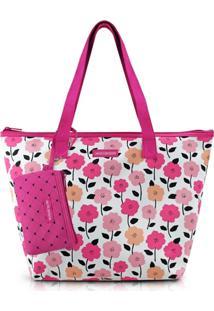 Bolsa Com Niqueleira Jacki Design Pink Lover Rosa - Kanui