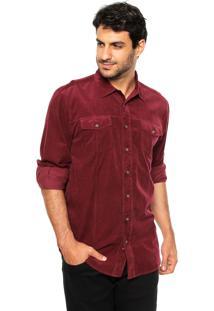 Camisa Hering Veludo Cotelê Vinho