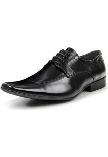 Sapato Social Bigioni De Amarrar Office Masculino - Masculino-Preto