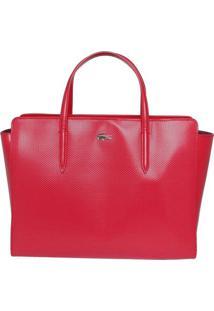 Bolsa Em Couro Com Tag Metalizada - Vermelha - 25,5Xlacoste