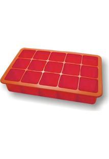 Forma De Gelo Em Silicone 15 Cubos Vermelha S6014B-Vm
