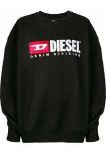 Diesel Blusa De Moletom Com Logo 'F-Arap' - Preto