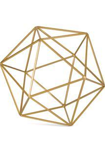 Forma Geometrica Dourada Em Metal