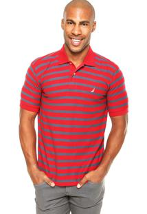 Camisa Polo Nautica Classic Fit Vermelha