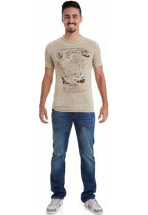 Camiseta Versani Masculina - Masculino-Bege