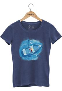 Camiseta Forseti Estonada Navegante Azul - Kanui