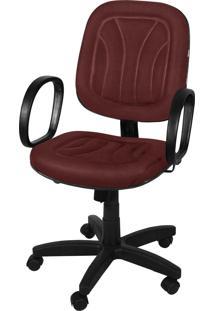 Cadeira Diretor Base Giratória Gás C/ Braços Corsa Relax Lacoste Romã Giobel