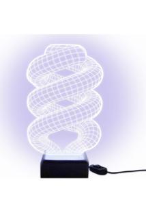 Luminária Acrilize Espiral Branca