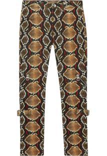 Burberry Skinny Fit Python Print Jeans - Marrom