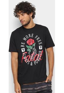 Camiseta Fatal Be More Free Masculina - Masculino-Preto