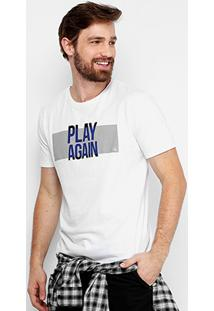 Camiseta Calvin Klein Play Again Masculina - Masculino-Branco
